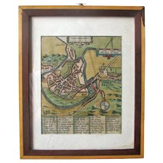 Map of Shrowesbury, England – Ca 1649