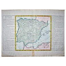 Map - 'De L'Espagne en General', by J-B. L. Clouet. – ca 1780