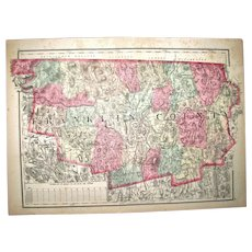 Mitchell's Map of Franklin County, Connecticut – Ca 1860