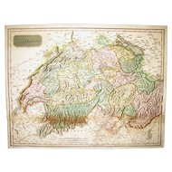 "Map - ""Swisserland"" by John Pinkerton, London, 1809."