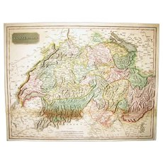 "Map - ""Swisserland"" by John Pinkerton, London, 1809."