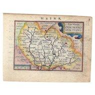 MAINE – La Mans, Cenomani Rum Typus Map CA 1609