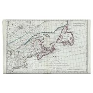 1787 Map of North America & Eastern Canada