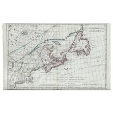 1787 Map of North America & Eastern Canada