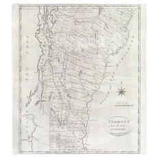 Reid's 1795 Map of Vermont from the latest Authorities
