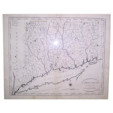 """1796 Map Of Connecticut by John Reid, """"From the Best Authorities"""""""