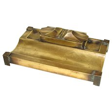 Early 20th Century Brass Double Inkstand