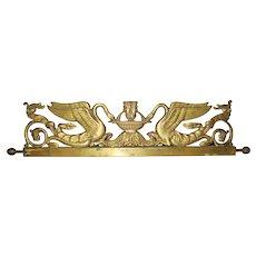 Vintage Brass Architectural Element – Swans & Fountain