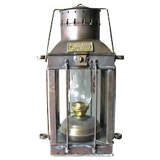 "Vintage English Ship Lantern – 'CARGO Light"" – 1939"