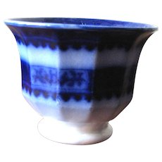 "3"" Antique Flow Blue Cup"