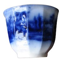 """2 3/4"""" Tall Antique Flow Blue Cup"""