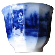 "2 3/4"" Tall Antique Flow Blue Cup"