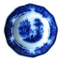 """4 3/4"""" Flow Blue Dessert Plate"""