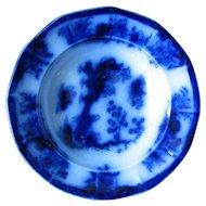 """5 1/8"""" Flow Blue Dessert Plate"""