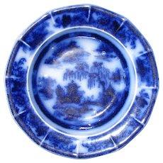 "5 1/4"" Flow Blue Dessert Plate – ""Manilla"""