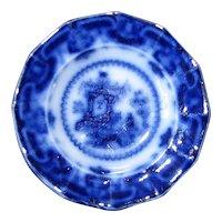 "5"" Flow Blue Dessert Plate – ""Oregon"""