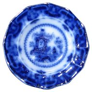 "5"" Flow Blue Dessert Plate – ""Oregon"""
