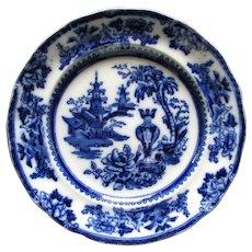 """Antique 8 3/4"""" Flow Blue Plate"""