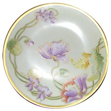 Signed Vintage Hand Painted Limoges Porcelain Plate