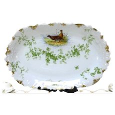 French Limoges Porcelain Game Platter