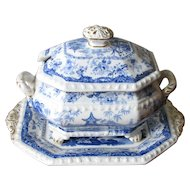Minton Covered Sauce Tureen with Under Plate