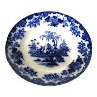 "Pair 9 ½"" Antique Flow Blue Plates – Scinde"