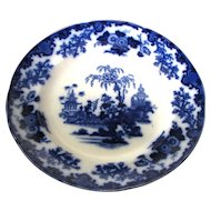 "Pair 9 ½"" Antique Flow Blue Plates – Scinde"