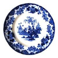 "10 ½"" Antique Flow Blue Plate – Scinde"
