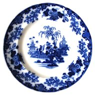 "10 ½"" Antique Flow Blue Plate – Scinde"