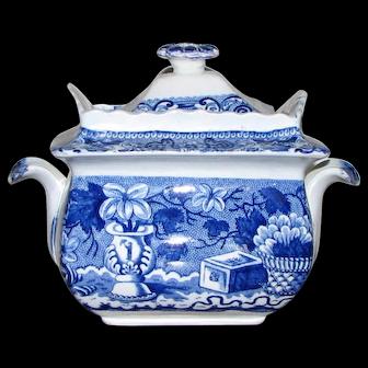Antique Clews Stone China Sugar Bowl – Chinese Vase Pattern