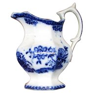Antique Flow Blue Creamer – Canton Pattern