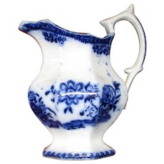 Antique Flow Blue Creamer – Canton Pattern