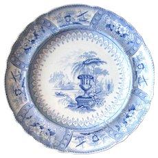 "10 ½"" ""CANOVA"" Staffordshire Transfer Ware Plate"