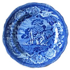 """9"""" Plate with Fox Hunters, Dogs and Birds"""