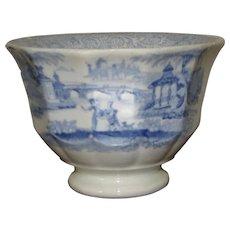 Transferware Cup Blue & White Oriental