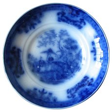 "5 5/8"" Flow Blue Bowl by Davenport – AMOY"