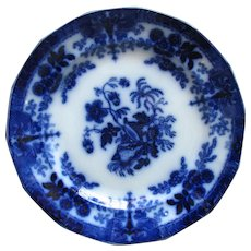 "9 3/4"" Flow Blue Plate – Challinor's ""SHELL"""