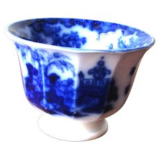 "2 3/4"" Antique Flow Blue Cup – Scinde"