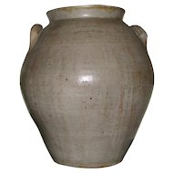 3 Gal. Antique Ovoid Bennington Stoneware Crock