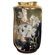 """9 ½"""" Teplitz Amphora High Glaze Porcelain Vase"""