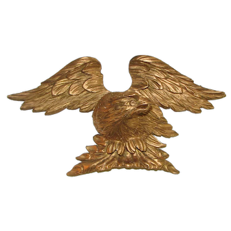 18th C. Carved Wooden Gilt American Eagle  - Chippendale Period