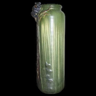 Contemporary Laura Klein Ephraim Faience Pottery Bear Cub Vase