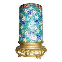 Antique French Longwy Art Pottery Lamp Base