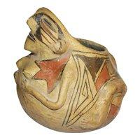 Pre Columbian Style Figural Effigy Pot
