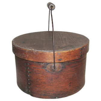19th C. Covered Measure with Bail Handle