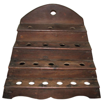 Unusual Late-19th Century Folky Four Step Pipe Stand