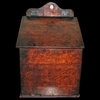 19th C. English Oak Wall Box