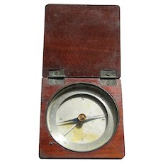 Antique Wooden Cased Pocket / Travel Compass