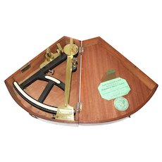 19th Century Brass & Ebony Quadrant