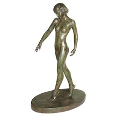 "16 ½"" Figure of Standing Female Nude - Pollak"